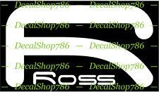 Ross Fishing Rods - Outdoor Sports - Vinyl Die-Cut Peel N' Stick Decals/Stickers