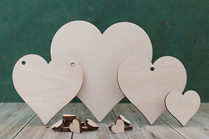 Wooden heart shapes birch plywood craft blanks for wedding plaque and pyrography