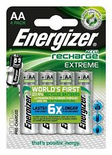 4 X Energizer AA 2300 mAh Rechargeable Batteries Extreme Pre Charged NiMH Hr6