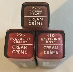 (3) COVERGIRL Colorlicious Crème Rouge à Lèvres, 295, 275, Et 410
