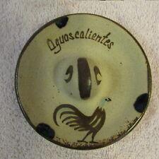 Collectible Vintage CLAY POTTERY Ashtray, SOMBRERO Aguascalientes, Mexico SIGNED