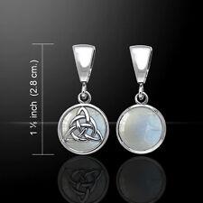 keltisch Triqueta Opal umkehrbare Sterling Silber Anhänger Peter Stone