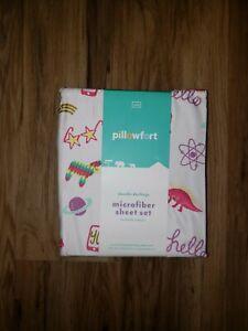 CUTE Target Pillowfort Doodle Twin Sheet Set Bedding New