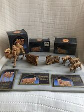 Fontanini By Roman Stable Manger Animals Camel Donkey Sheep Ox 1992