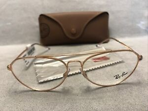 RAY BAN RB 6454 3094 Rose Gold Eyeglasses 56[]14 140 Frames AUTHENTIC NEW + CASE