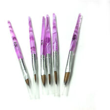 Hot 6 Sizes Manicure Acrylic Nail Art Tips Sable Brush Painting Tool Set Us