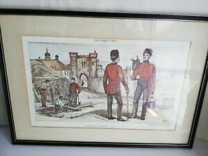 Military Print Royal Sappers and Miners framed print