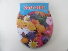1X New Sunflower Soft Toilet Seat & Cover 42cm Long