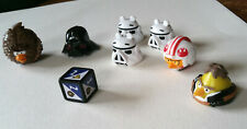 7 ANGRY BIRD Star Wars Pieces + Die