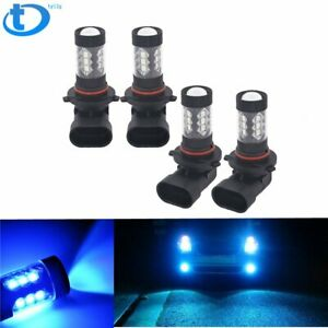 4x Combo 9005+9006 LED Headlight Low Beam Bulbs Kits Fog light 8000K Blue
