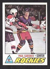 1977-78  OPC HOCKEY , # 24 , PAUL GARDNER , (RC) , COLORADO ROCKIES