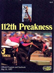1987 - 112th Preakness Stakes program & Yearbook - ALYSHEBA - MINT