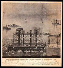 1881  --  LA ROCHELLE TRAVAUX SOUS MARINS DE LA DIGUE DU PORT DE LA PALLICE