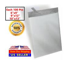 300 Combo White Poly Mailer Self Sealing Shipping Bags 100 Each 6X9 9X12 10X13