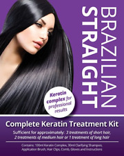 Brazilian Straight Keratin Home Use Hair Treatment Kit Straightening Blow Dry