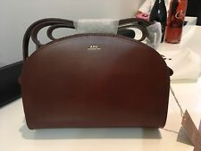 NWT A.P.C Half-Moon Bag in Dark Brown w/ Dustbag