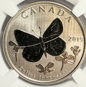 2019 CANADA 50 CENT SULPHER BUTTERFLY NGC SP70 FIRST RELEASES HALF DOLLAR 🇨🇦