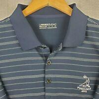 NIKE GOLF x PINEHURST #2 Size XL Mens Navy Polo Shirt Short Sleeve Dri-Fit