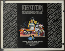 SONG REMAINS THE SAME 1976 ORIG. 22X28 MOVIE POSTER LED ZEPPELIN ROBERT PLANT