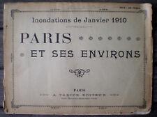 Revue Livre Ancien Illustré INONDATIONS DE PARIS & SES ENVIRONS de Janvier 1910