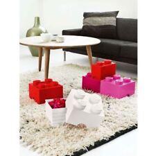 Lego Grande Caja Almacenaje Mueble Sellado - 2 Negro Ladrillo