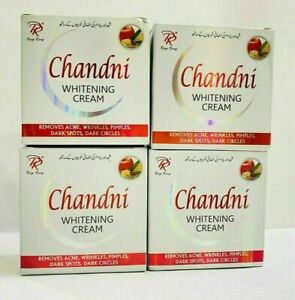 4 PCS Chandani Whitening Beauty Face Cream Origina 100%  FREE SHIPPING
