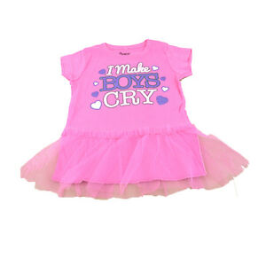 I Make Boys Cry Tulle Pink Tutu Shining Screen Authentic Spencers Graphic Tee
