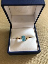 Blue topaz ring in 18 carat yellow gold
