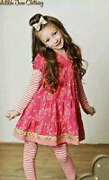 Matilda Jane Size 8 Persephone Dress Zola Leggings Set NWT IN BAG Christmas