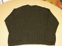 Mens Brooks Brothers long sleeve sweater shirt faded black cotton EUC@
