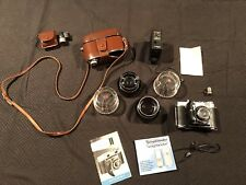 Kodak Retina IIc Folding Range Finder Camera Lot 3 Lens, Voigtlander, Opt Finder