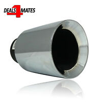 60mm Exhaust Tail Pipe Tip Car Chrome Trim Universal Weld On To Back