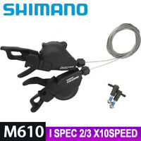 SHIMANO DEORE M610 Shifter Shift Lever I-SPEC 2s 3s 10 Speed MTB Bike Left Right