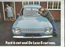 FORD ESCORT 6 cwt AND DE LUXE 8 cwt VANS SALES BROCHURE 1968