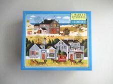Charles Wysocki's 1000 Piece MB Puzzle DEVILSTONE HARBOR 2004 Americana NEW