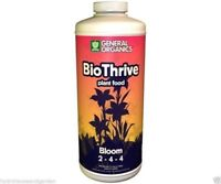 General Hydroponics General Organics BioThrive Bloom 1 Quart