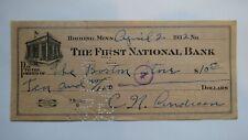 $10 1932 Hibbing Minnesota MN Cancelled Check! First National Bank