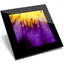 1 X Symmetrical Lotus Flower Glass Coaster - Kitchen Student Gift #16654