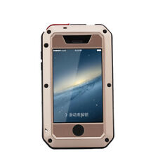 For iPhone 4s 5s SE Rugged Aluminum Metal Hybrid Glass Shockproof Case Cover