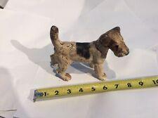 Antique Wire Fox Terrier Dog Cast Iron Doorstop Decorative Art Statue