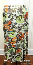 Requirements 8 Calf Length A Line Floral Print Skirt NWT $44.00