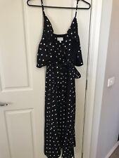 Witchery Polka Dot Cold Shoulder Dress Size 10