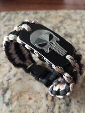 The Punisher Paracord Bracelet- handmade the punisher para cord mens bracelet