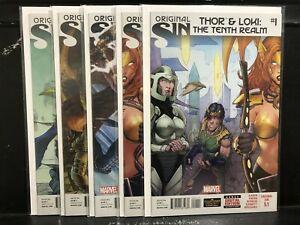 COMPLETE Original Sin #5.1 5.2 5.3 5.4 5.5 (2014 Marvel) Thor & Loki Tenth Realm