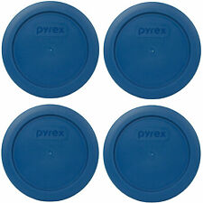 Pyrex 7200-PC Blue Spruce Round Plastic Storage Replacement Lid Cover (4-Pack)