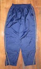 BROOKS Blue/Yellow Nylon TRACK PANTS Running Gym Athletic Sz Women's LARGE Nice!