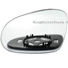 Left Passenger side Clip on heated wing door mirror glass for VW Passat B6 05-10