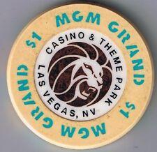 MGM Grand Casino & Theme Park $1.00 Casino Chip Las Vegas Nevada