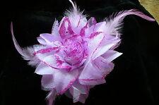 Neuf ! Broche ou  pince à cheveux fleur mariage soirée coloris mauve Réf B2