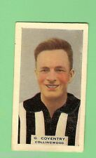 1930 VICTORIAN FOOTBALLERS CARD, HOADLEYS CHOCOLATE #42 G. COVENTRY, COLLINGWOOD